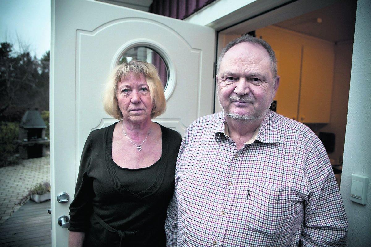 Lone och Torben tog hand om den rånade familjen.