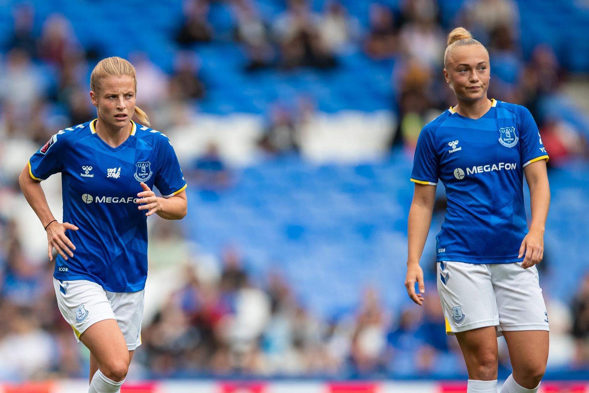 Anna Anvegård och Hanna Bennison har fått en tung start i Everton.
