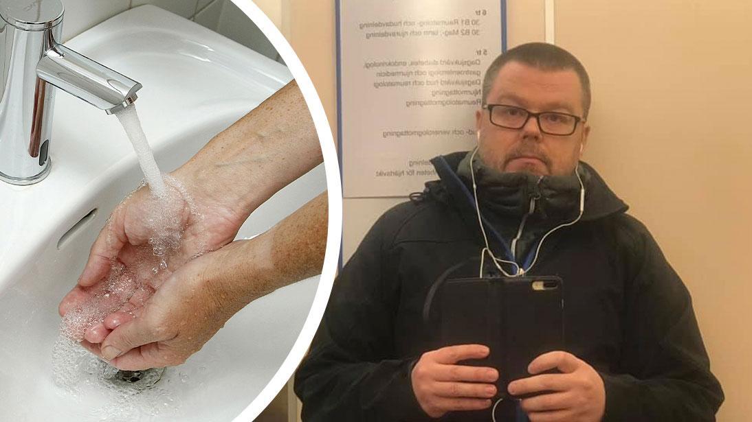 Uppsalabon Daniel Ålin, 45, är hjärttransplanterad och tillhör den grupp som riskerar att bli allvarligt sjuk av coronaviruset.