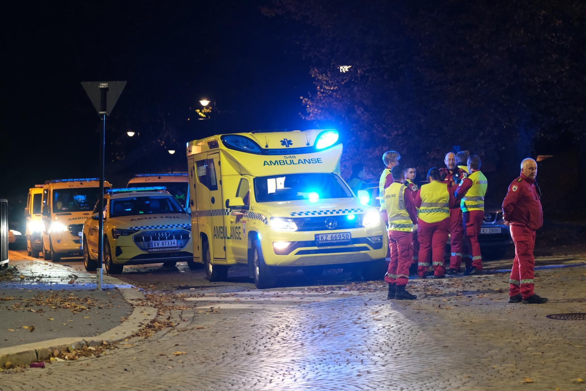 Ambulanspersonal i Kongsberg.