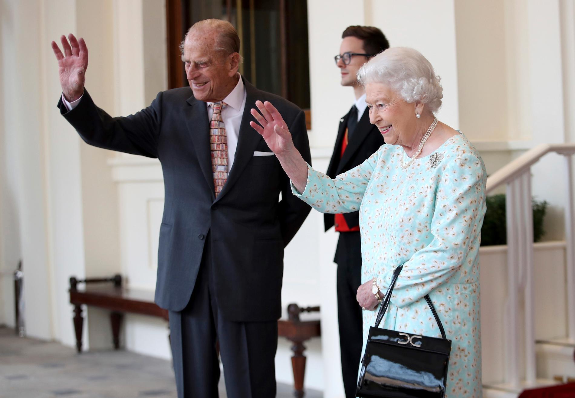 Prins Philip och drottning Elizabeth II 2017.