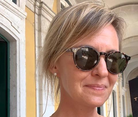 Anna Bergström trivs bra i Lissabon.