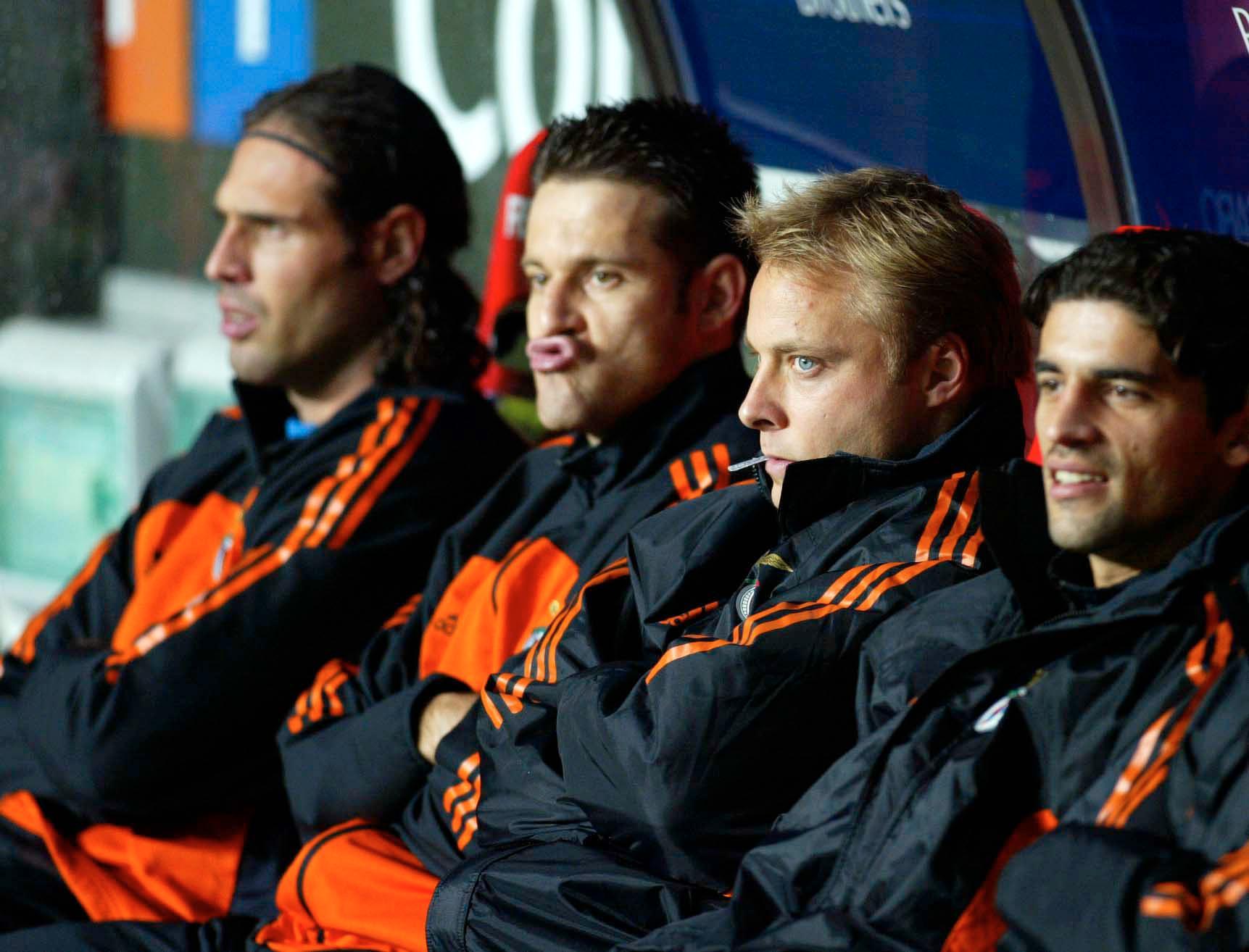 Anders Andersson på Benfica-bänken.