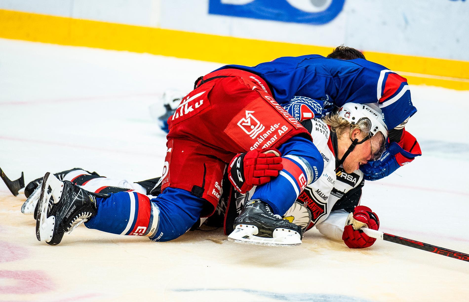 Tomas Zohorna och Marcus Sylvegård i bråk.