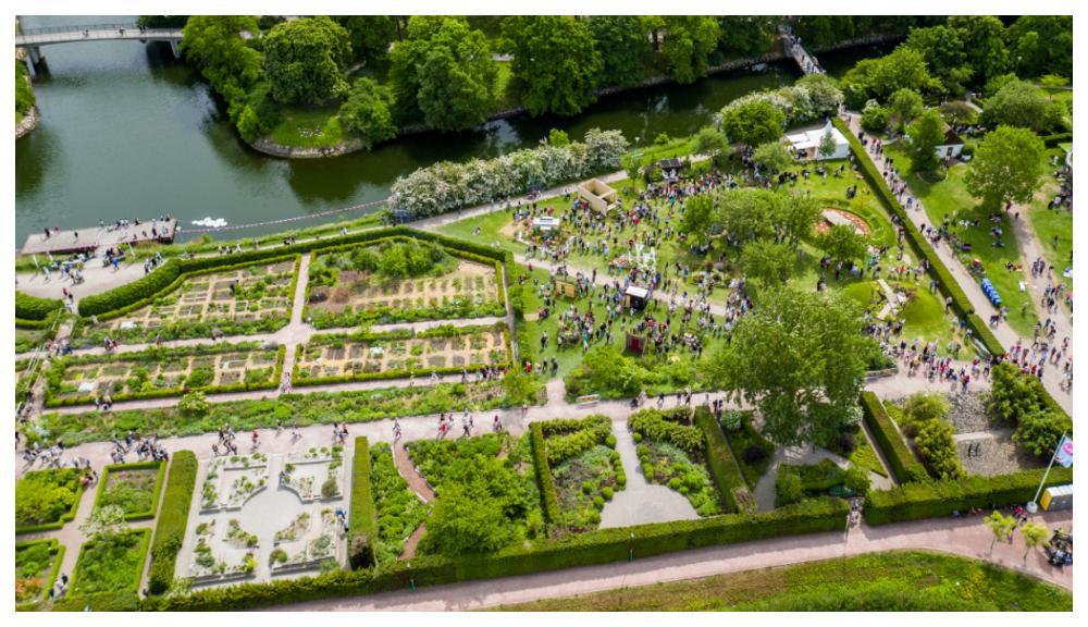 Utställningsområdet för Malmö garden show.