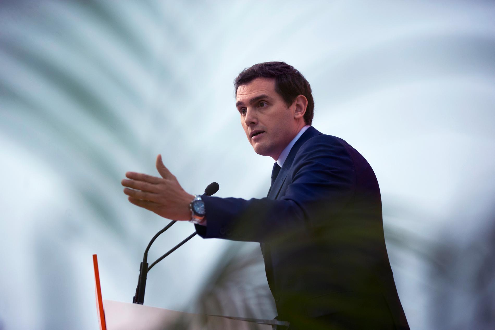 Stark medvind för Ciudadanos partiledare Albert Rivera.