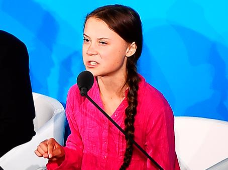 Greta Thunberg anklagar Facebooks för att tillåta lögner och hot.