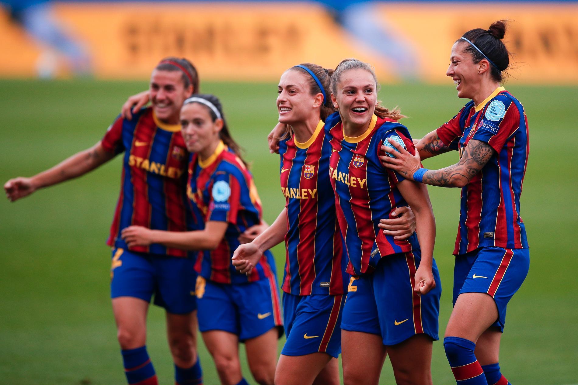 Barcelona firar efter att ha slagit ut PSG.