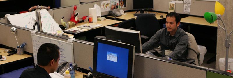 Personal på Googles kontor i Santa Monica, USA. Ett av många företag som lägger ner mycket pengar på kontorsmiljön.