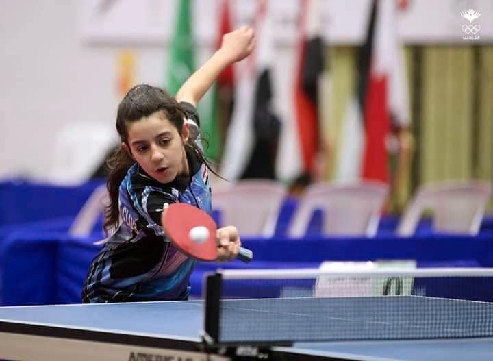 Hend Zaza, 12, är Syriens första deltagare som kvalat in till bordtennis i OS.