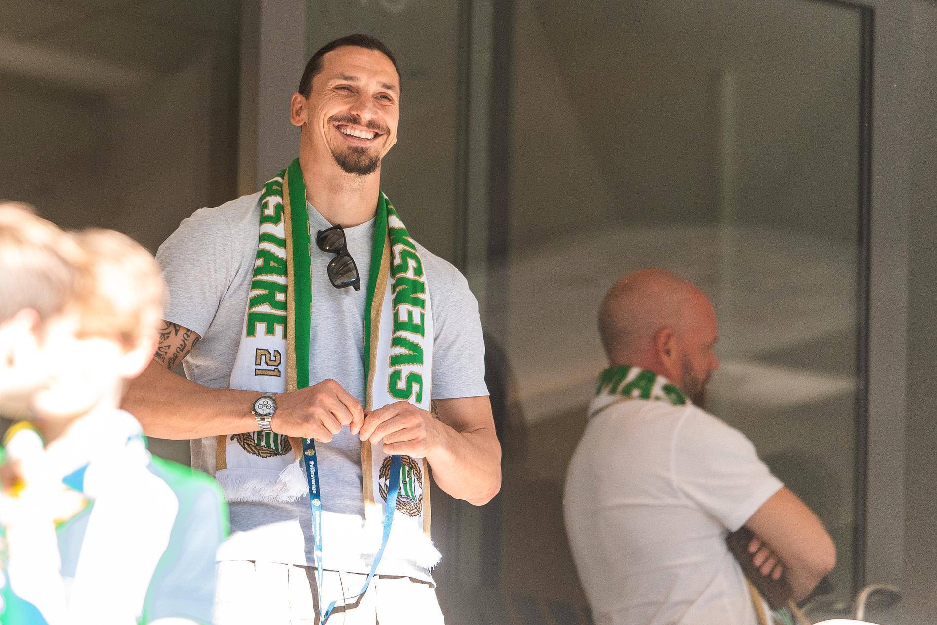 Zlatan Ibrahimovic kommer på delad andraplats.