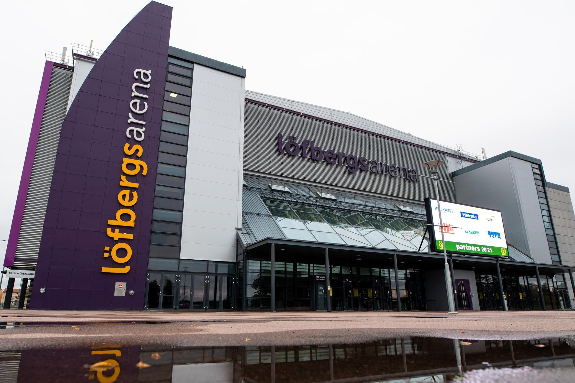 Färjestads hemmaborg Löfbergs arena i Karlstad.