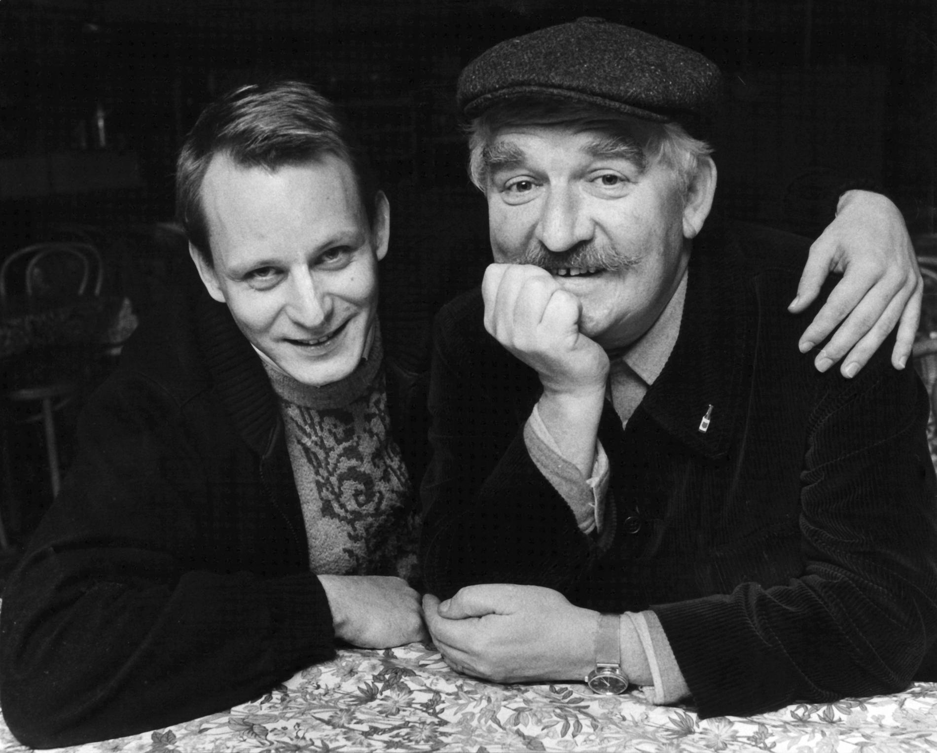 Med Hasse Alfredsson 1984.