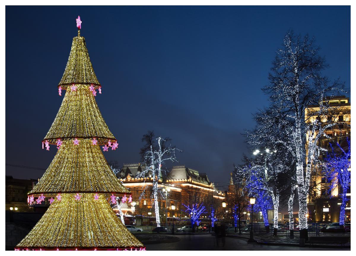 Julgran i Ryssland.