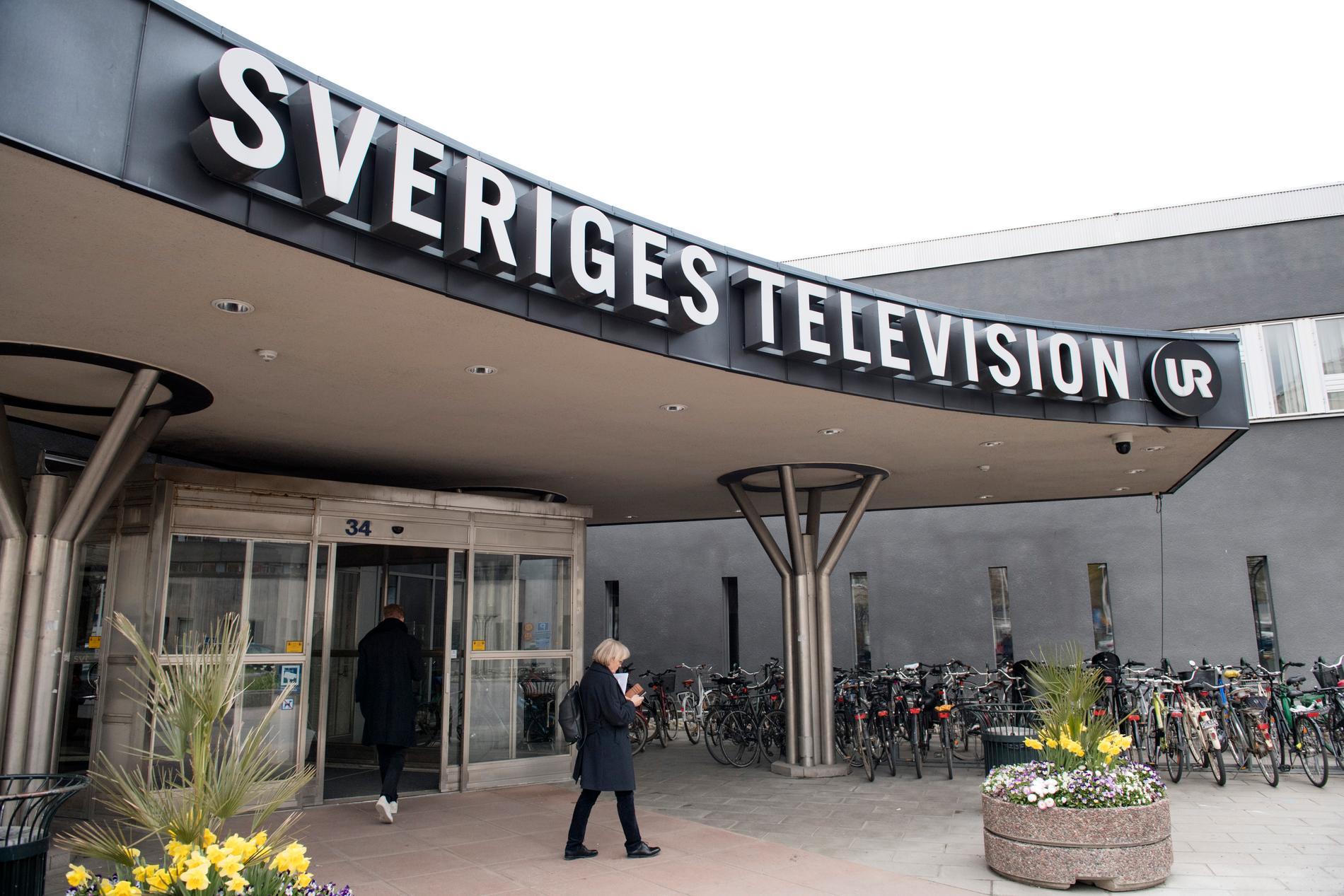 Moderaterna vill banta public service. På bilden SVT-huset i Stockholm. Arkivbild.
