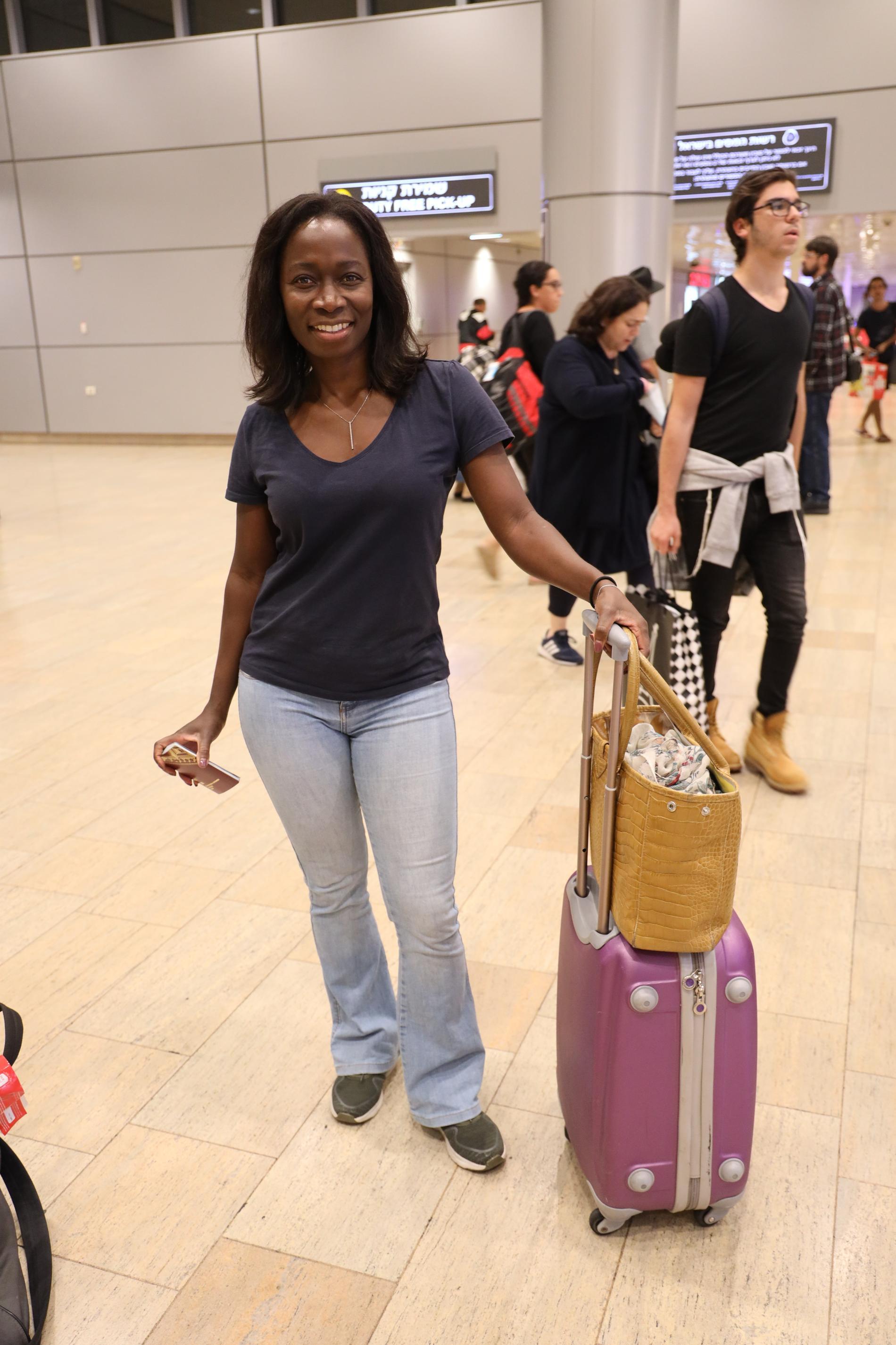 Nyamko Sabuni har landat i Tel Aviv.