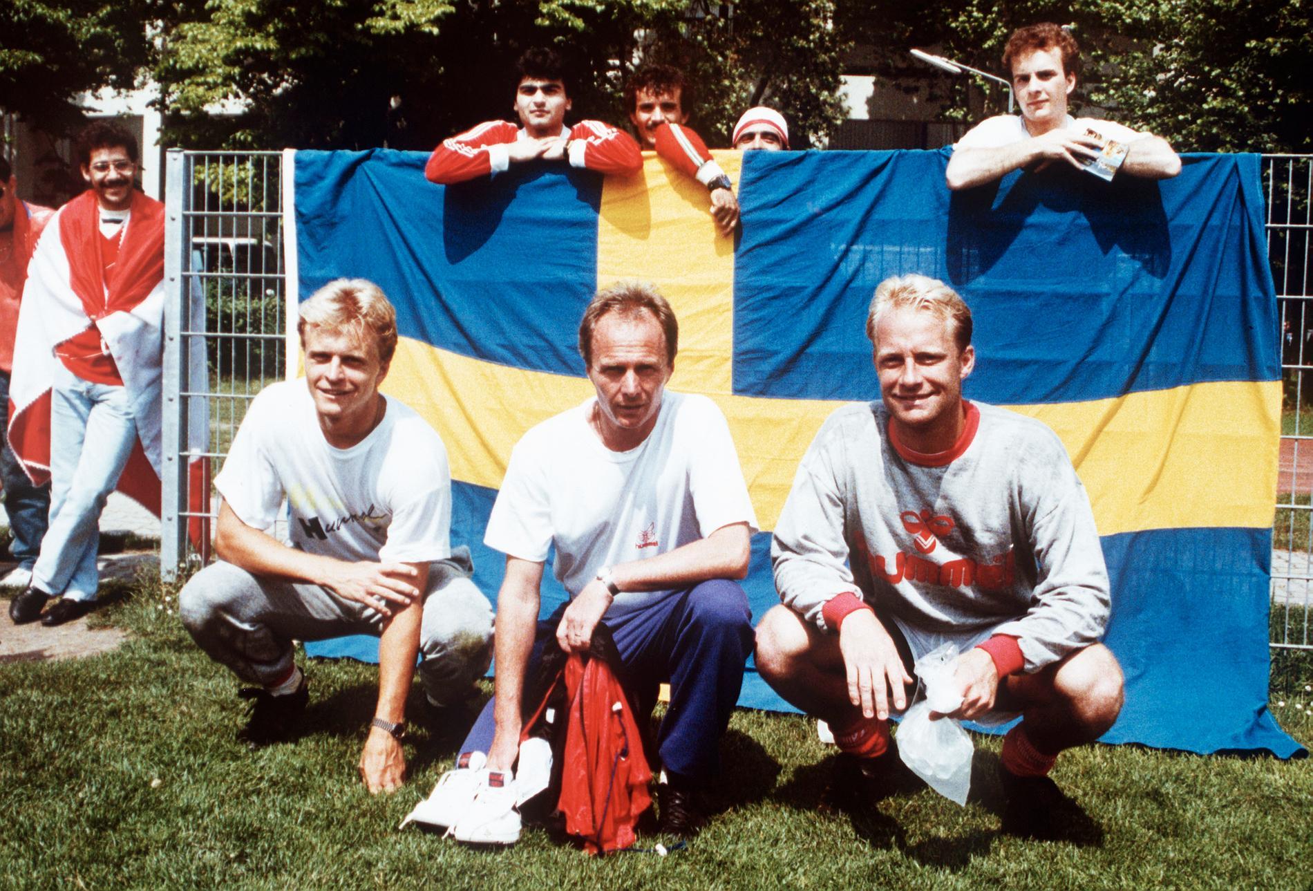 Jonas Thern, Sven Göran Eriksson och Mats Magnusson.