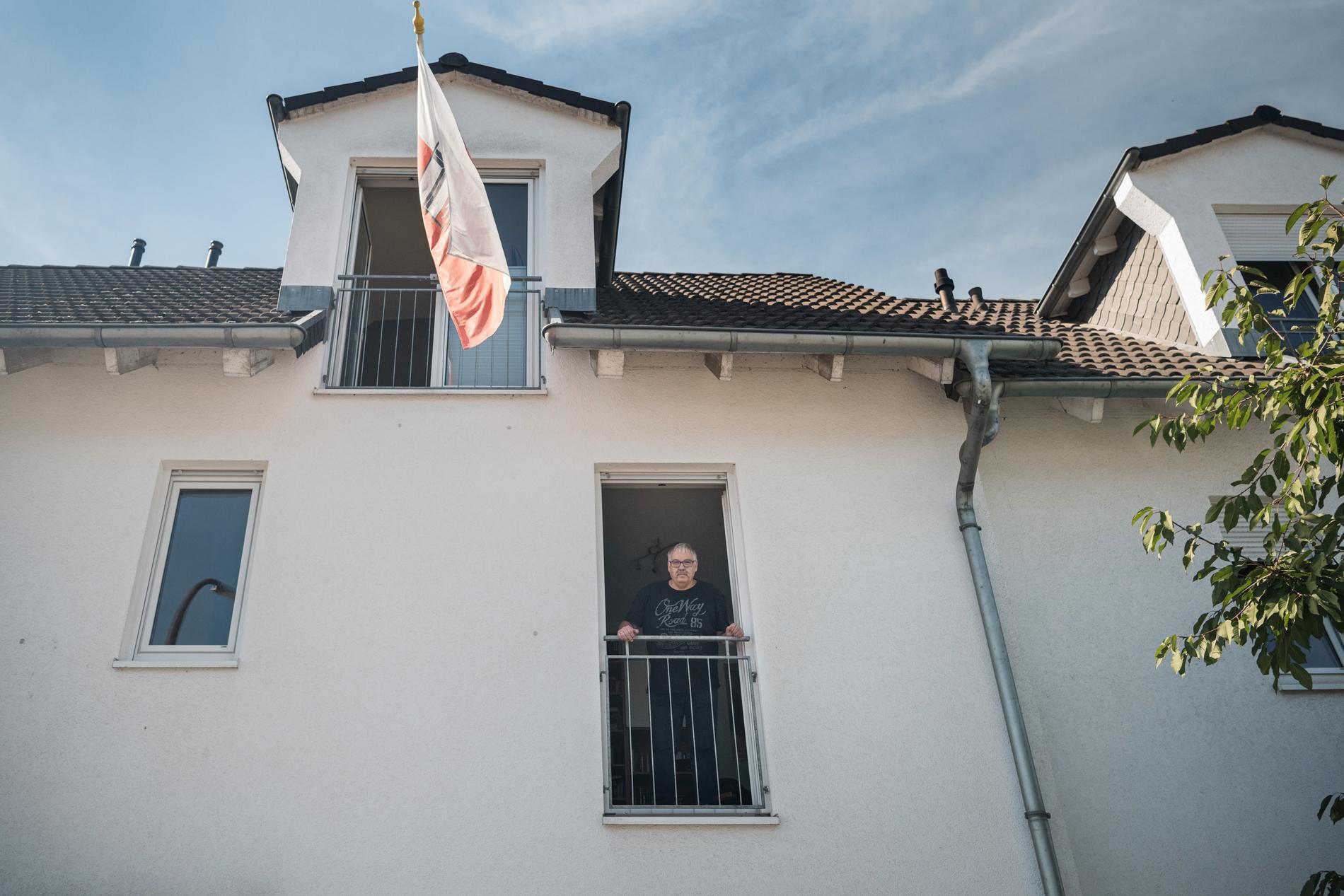 Heinrich Kohlhaas. Det går att bo på övervåningen men nedervåningen är totalförstörd.