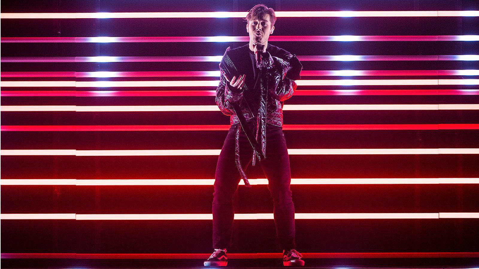 Benjamin Ingrosso i Melodifestivalen.