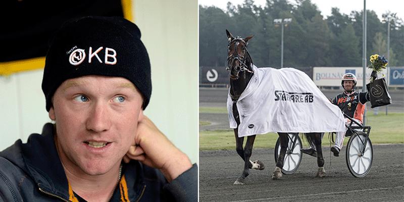 Oskar Kylin Blom köpte Morotai Degato på auktion för 21 000 kronor – nu har hästen sprungit in 1,1 miljoner.
