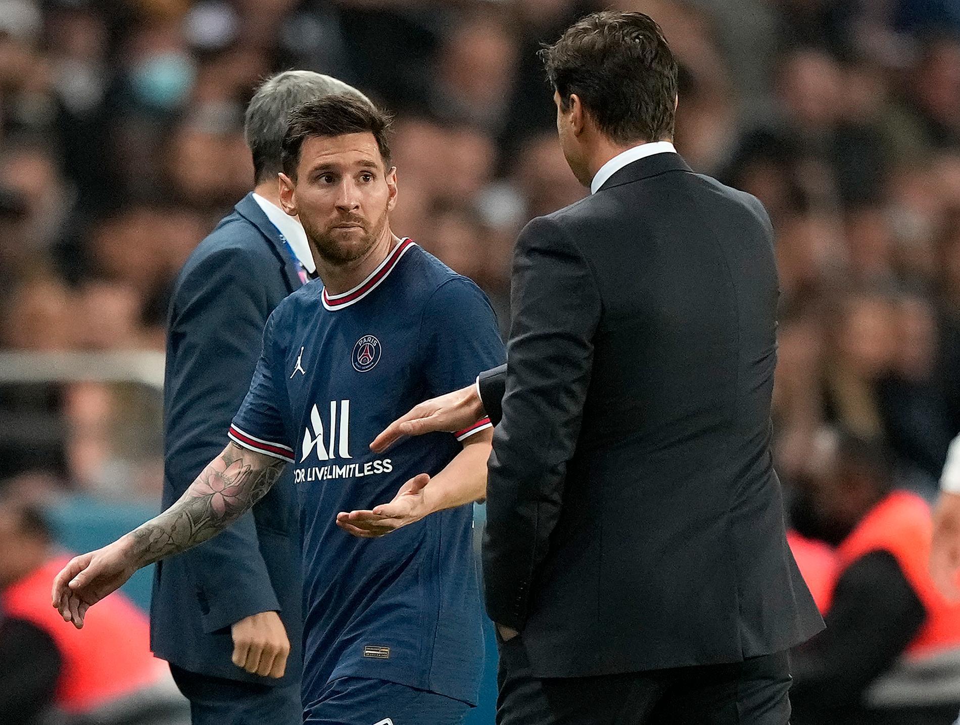Messi ville inte ta Pochettino i hand när han byttes ut.