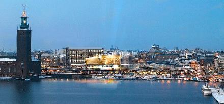 Så här ser det senaste förslaget till Stockholm Waterfront ut. Men utformningen av kontorsbyggnaderna har fått kritik.