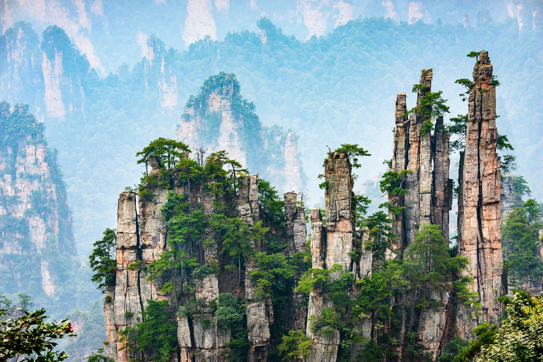 De flytande bergen i Avatar inspirerades av Wulingyuan.