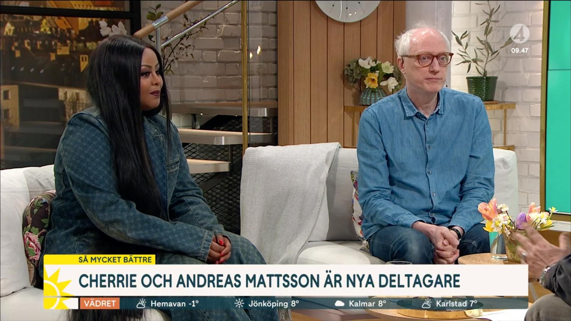 Cherrie och Andreas Mattsson i Nyhetsmorgon.