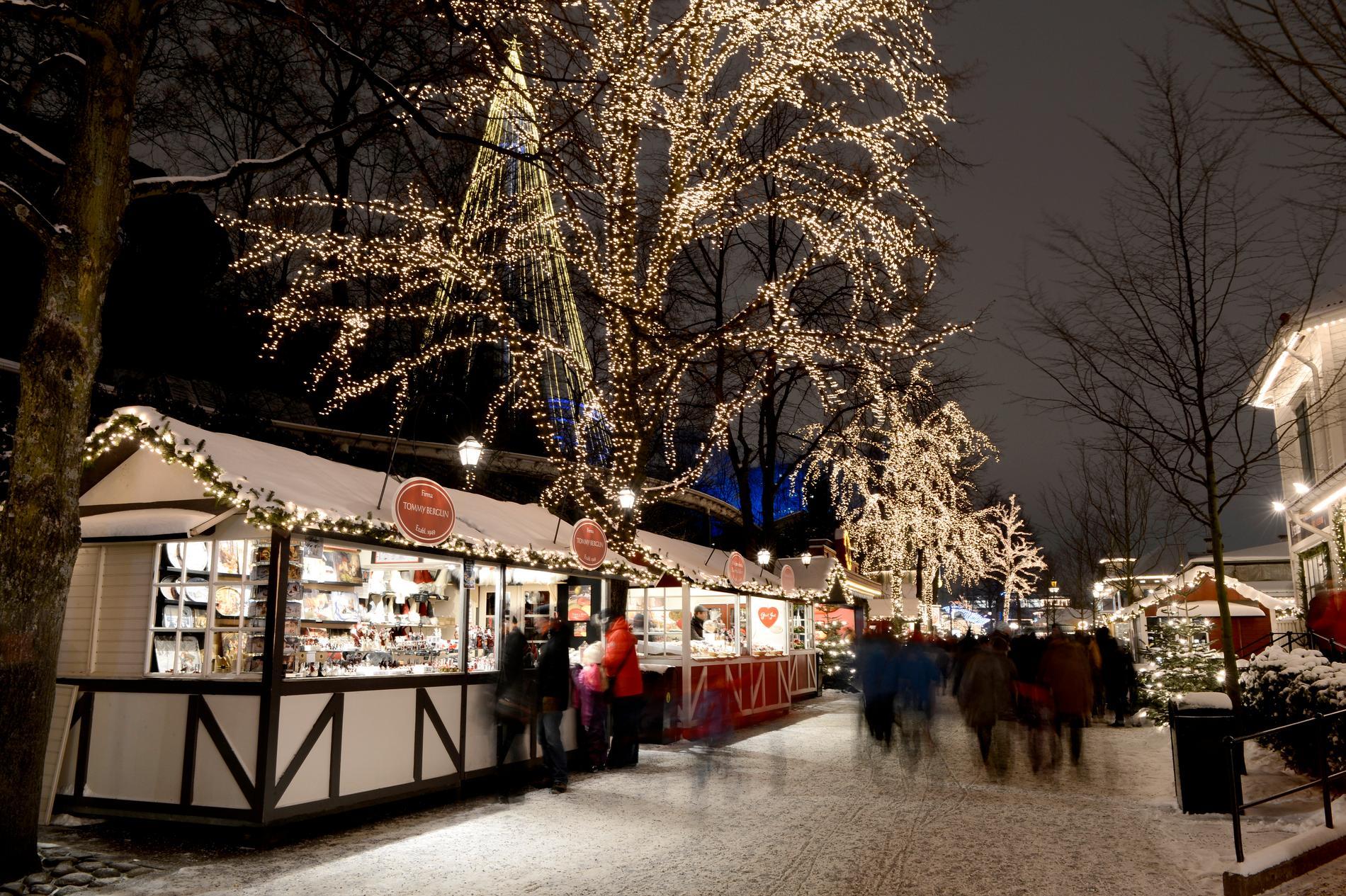 Lisebergs julmarknad är riktigt populär.