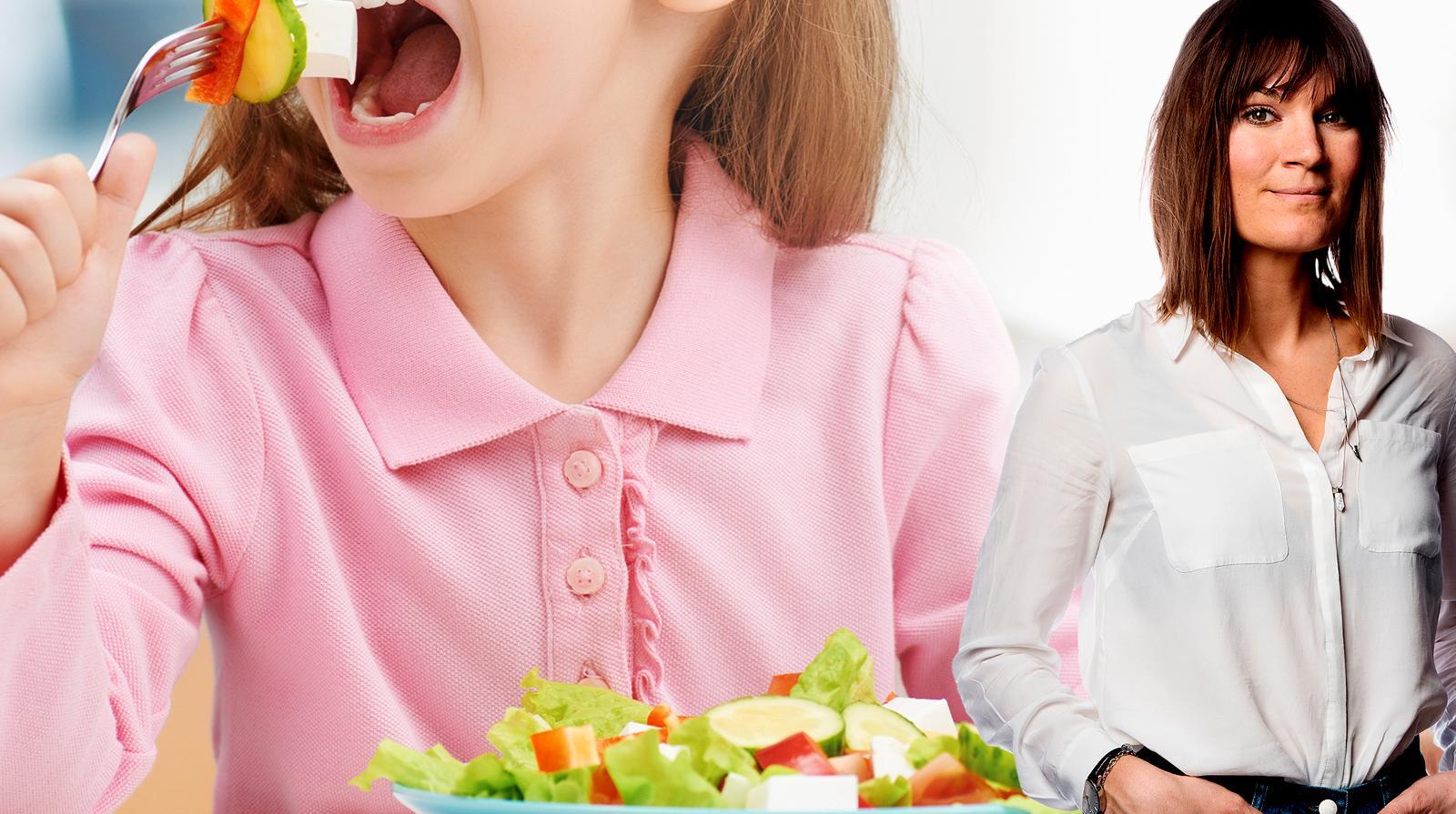 Malin Wollin skriver om sitt val att ge barnen vegetarisk kost.