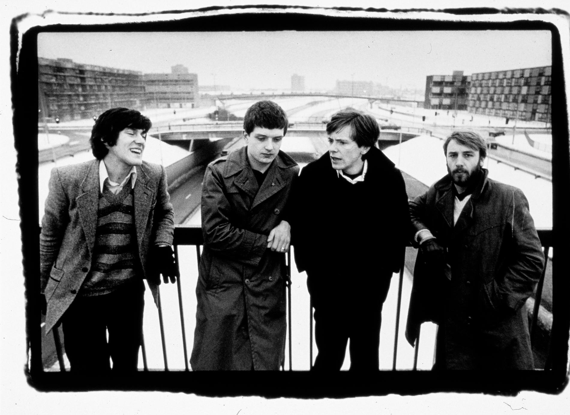 Joy Division: Stephen Morris, Ian  Curtis, Bernard Sumner och Peter Hook