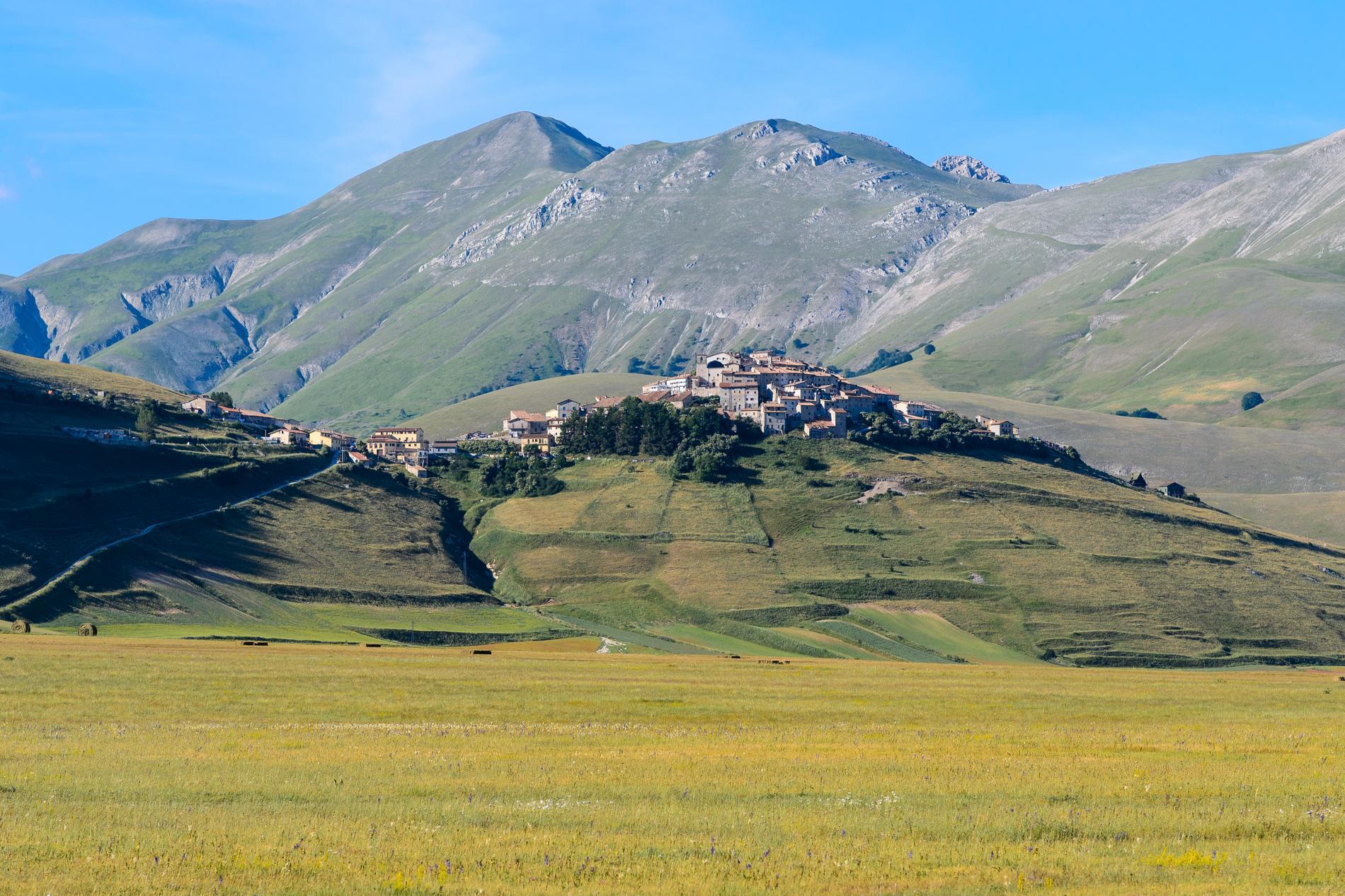 Många vill besöka Castelluccio under våren.