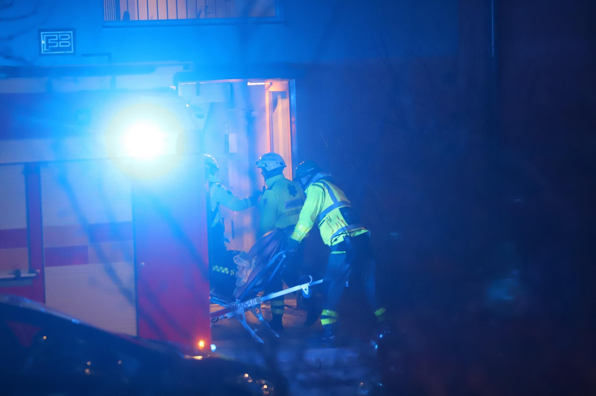 Natten mot fredag skedde en explosion vid ett flerfamiljshus i Farsta.