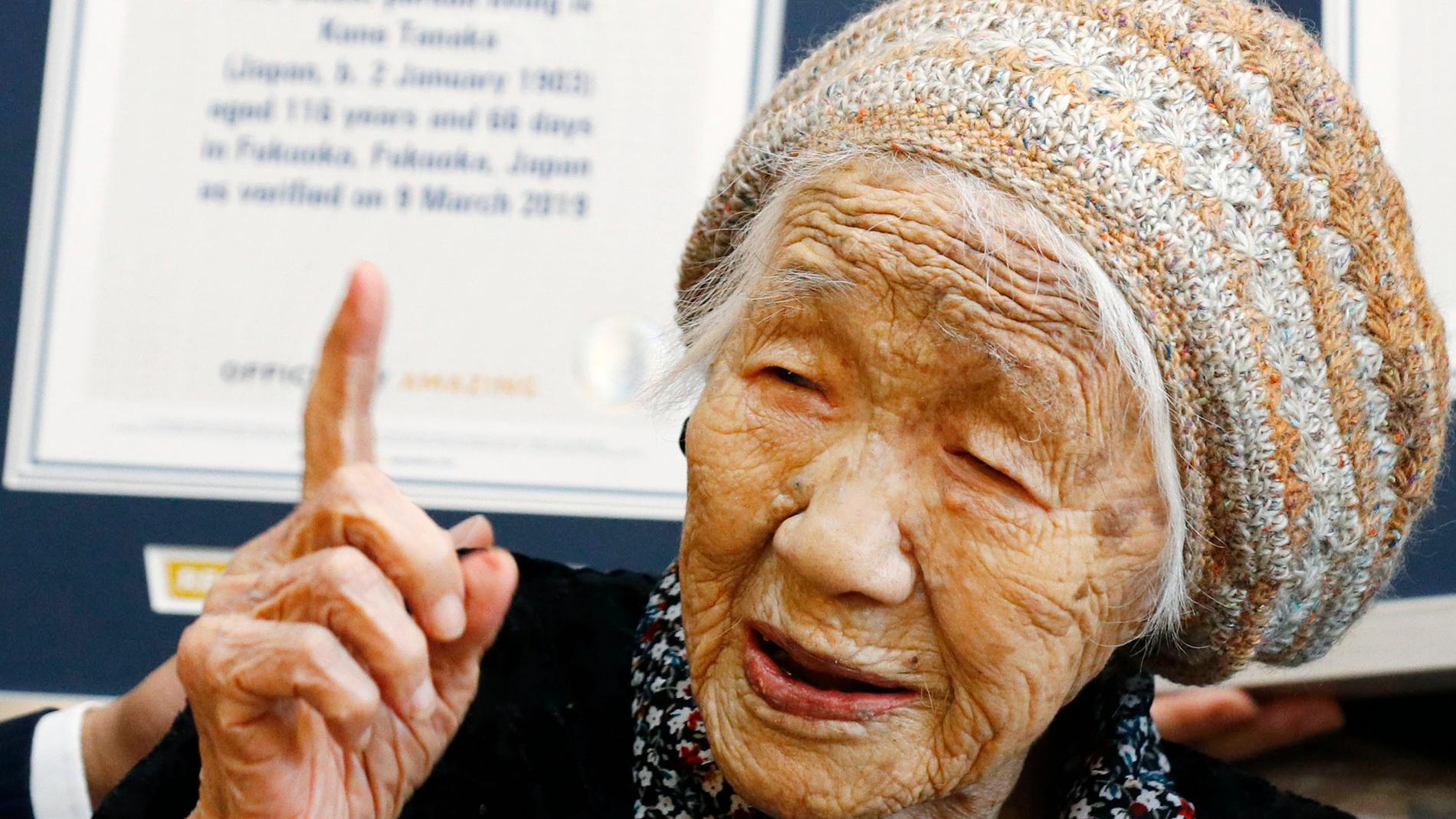 Kane Tanaka är den äldsta nu levande kvinnan, 118 år gammal. Arkivbild.