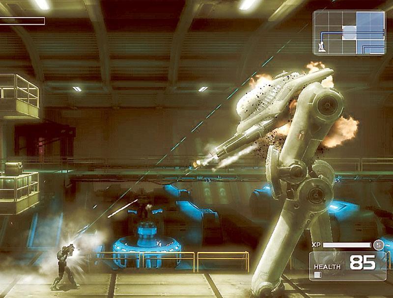 Nere i den underjordiska militärbunkern stöter vår hjälte på faror, men det detaljrika arbetet gör att spelmomenten känns mjuka och smidiga.