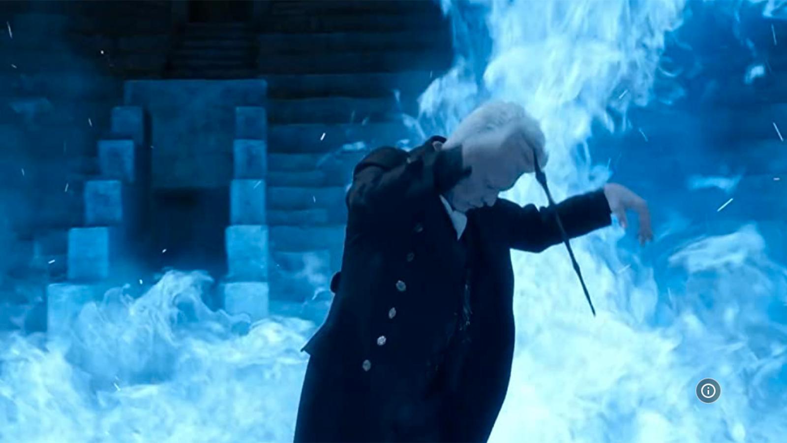 "Johnny Depp som Grindelwald i ""Fantastiska vidunder""-filmserien."