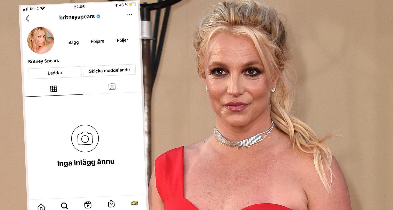 Britney Spears Instagram-konto har plötsligt raderats.