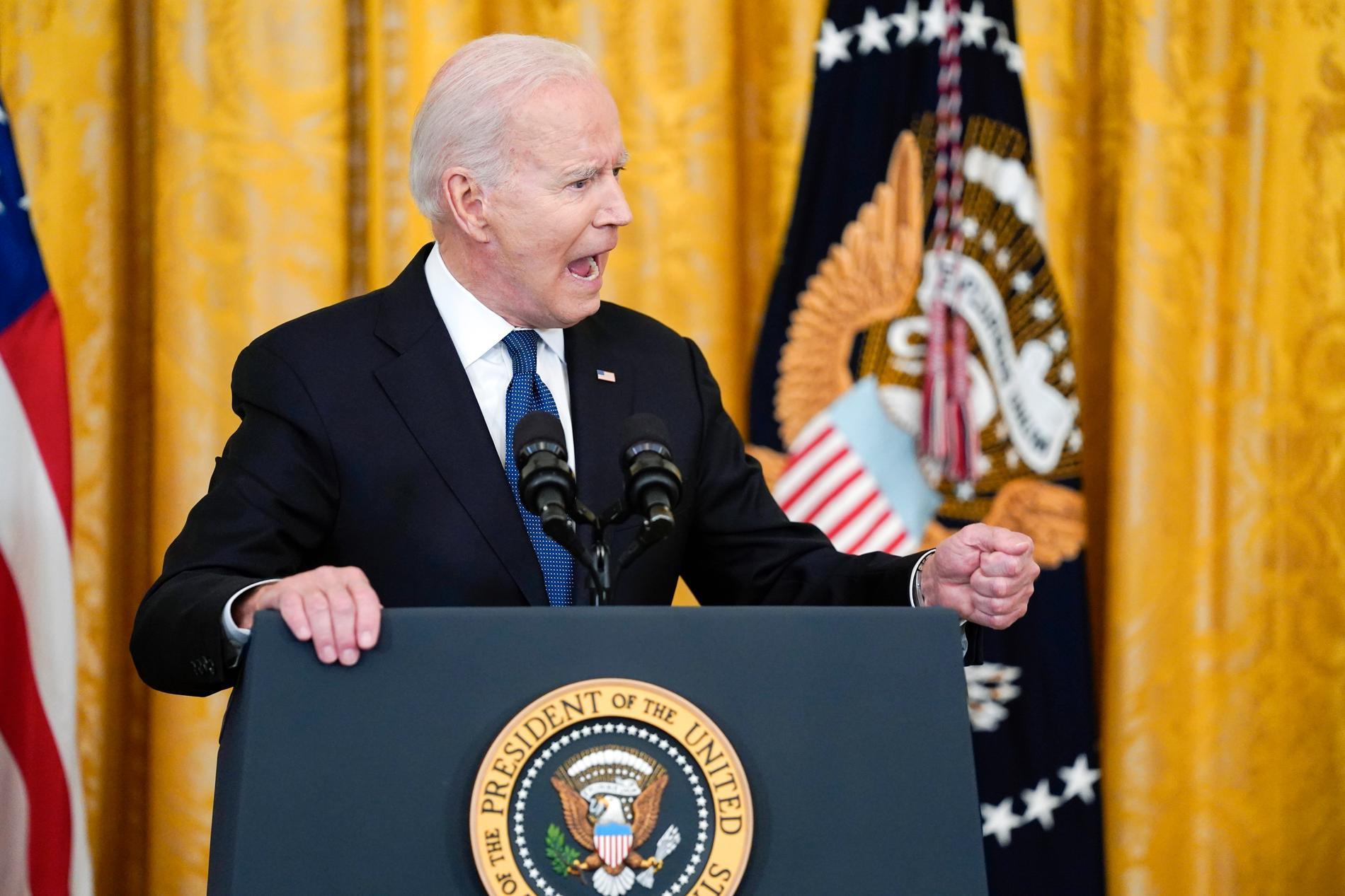 Joe Biden hade att samtal med Egyptens president Abd al-Fattah al-Sisi timmar före beskedet om vapenvila.