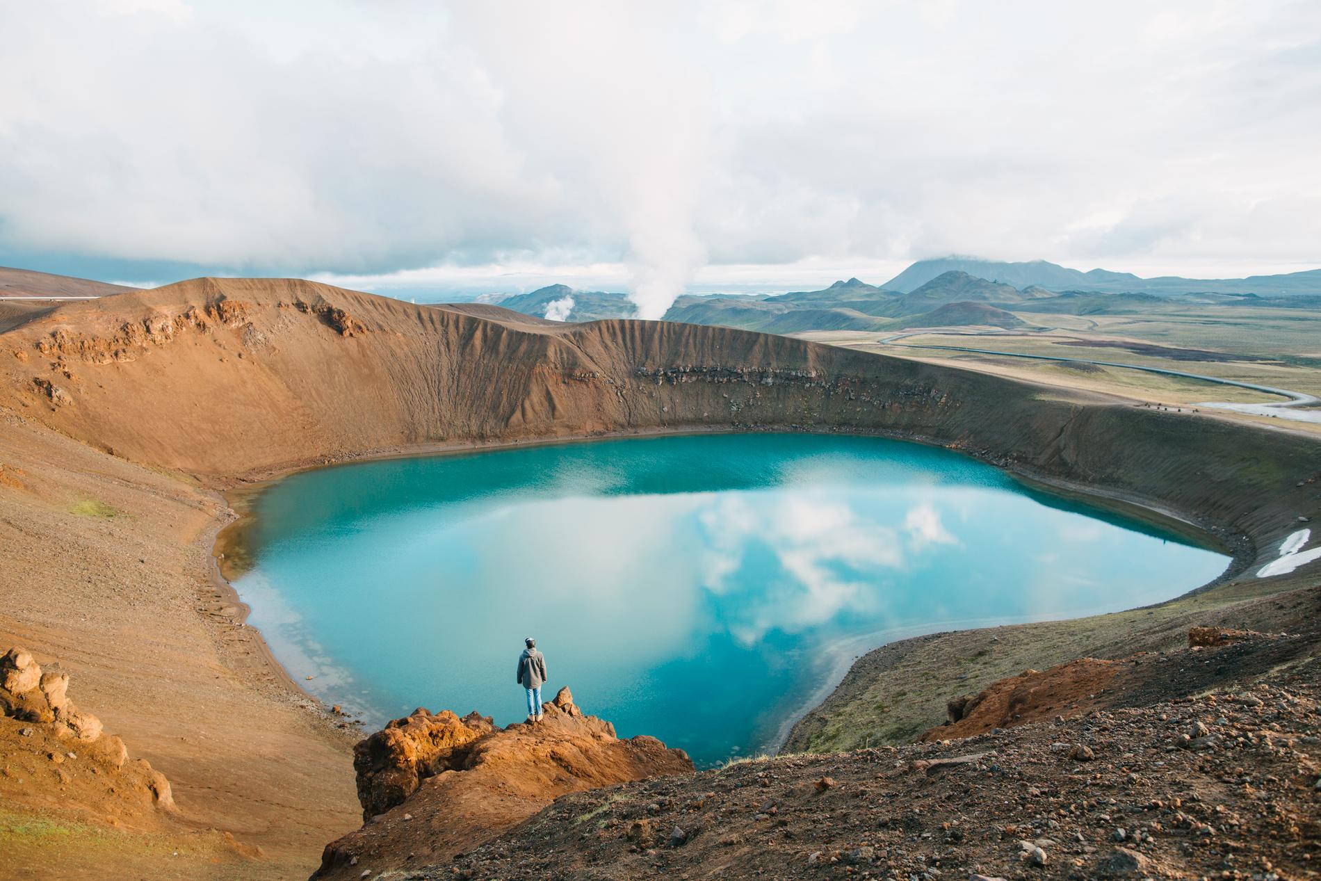 I området Krafla ligget kratern Viti.