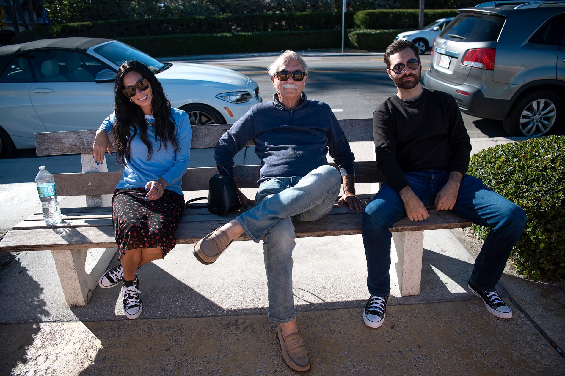 Kevin med sonen Kevin Jr. och systern Tammy.