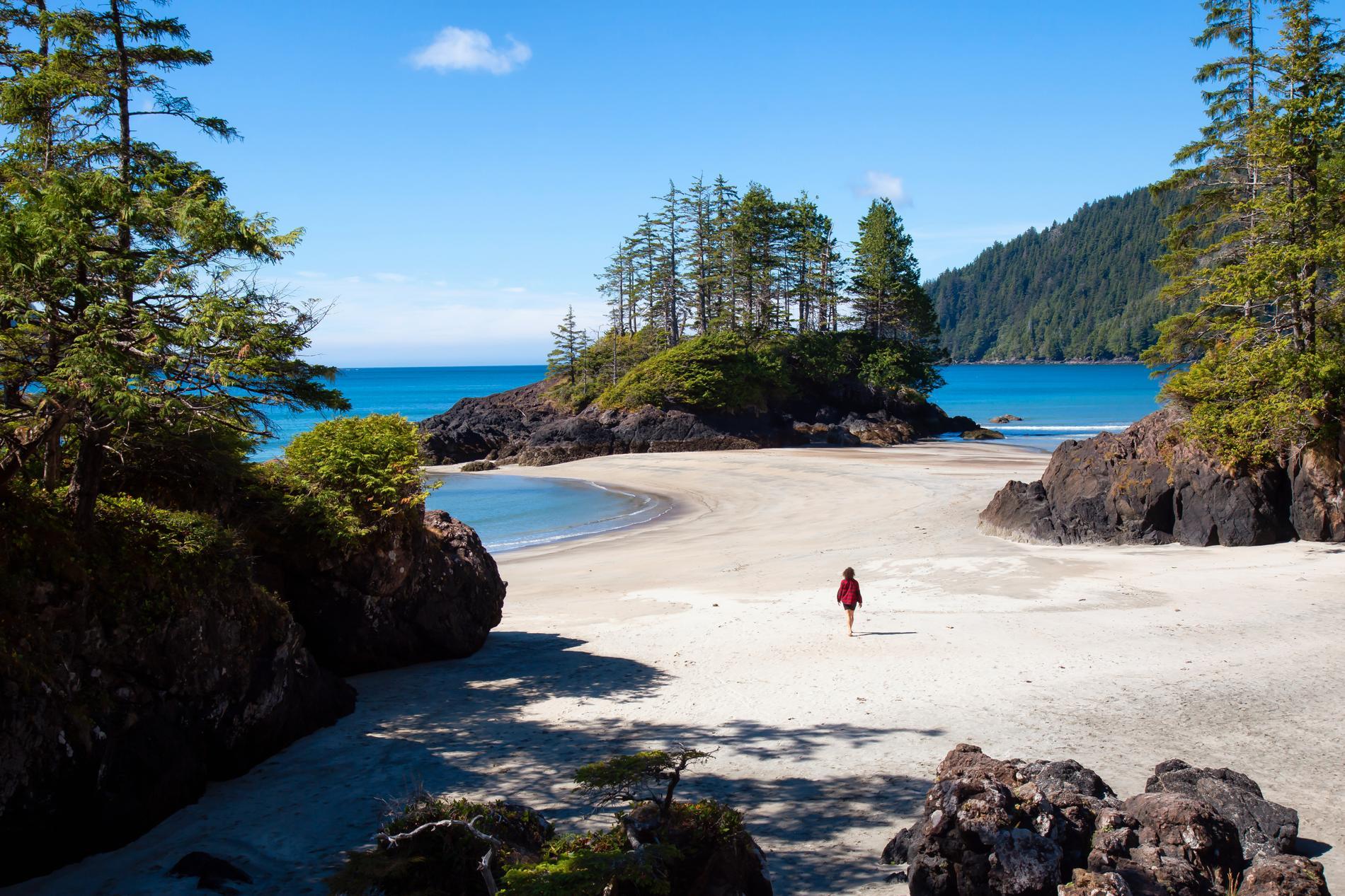Den aktiva resenären kan ta sig till Vancouver Island.
