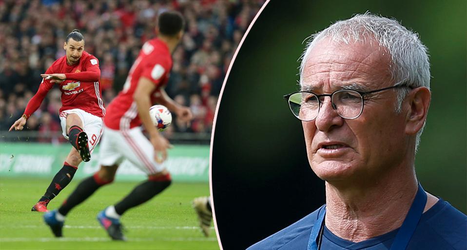 """""""Så fort han är frisk kommer han göra skillnad"""", säger Ranieri om Ibrahimovic."""