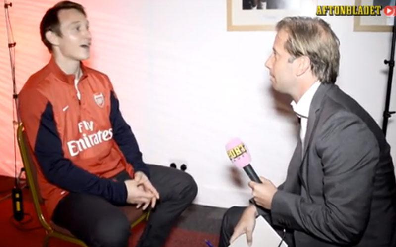 Kim Källström i samtal med Sportbladets Simon Bank.