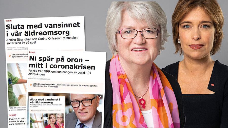 Äldreomsorgen under coronakrisen handlar om människors liv och hälsa. Ingen vinner på att vända bort blicken. Detta är en möjlighet för oss att i stället se sanningen i vitögat och göra bättre, skriver Carina Ohlsson och Annika Strandhäll.