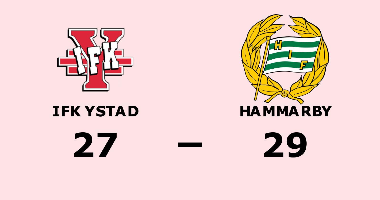 Hammarby vann borta mot IFK Ystad