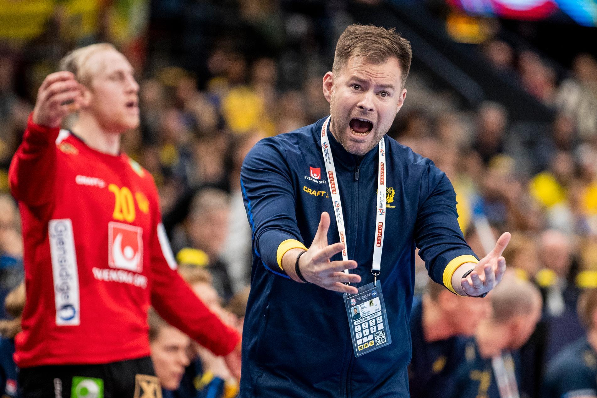 Sveriges förbundskapten Kristján Andrésson.