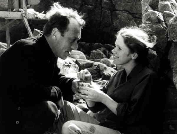 """Max von Sydow och Liv Ullman i Ingmar Bergmans """"Vargtimmen"""".Foto"""