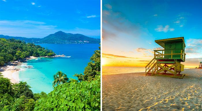Åk öst istället för väst – välj Thailand före Miami.
