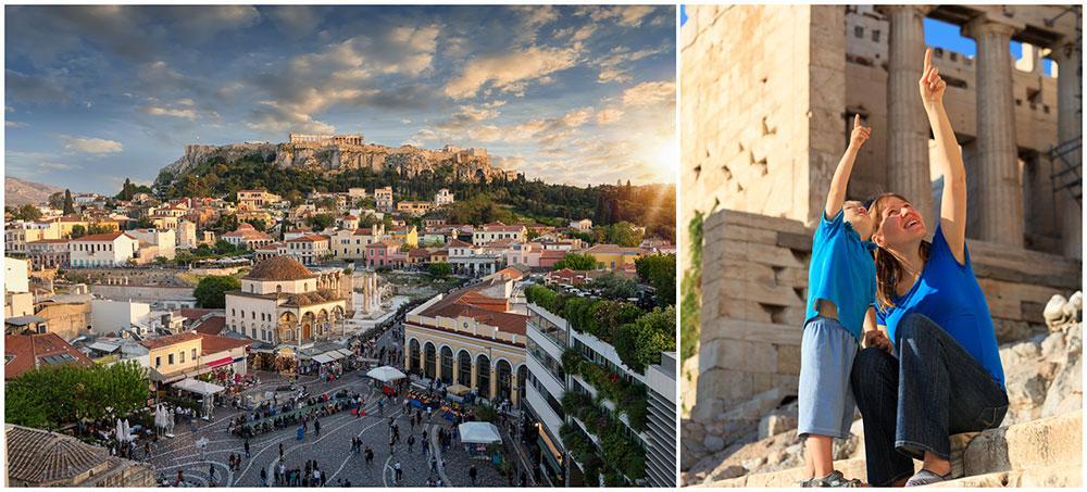 Upptäck spännande Aten tillsammans med barnen. Ett populärt resmål är Akropolis, perfekt för barn med spring i benen då området inte är anpassat för barnvagnar.