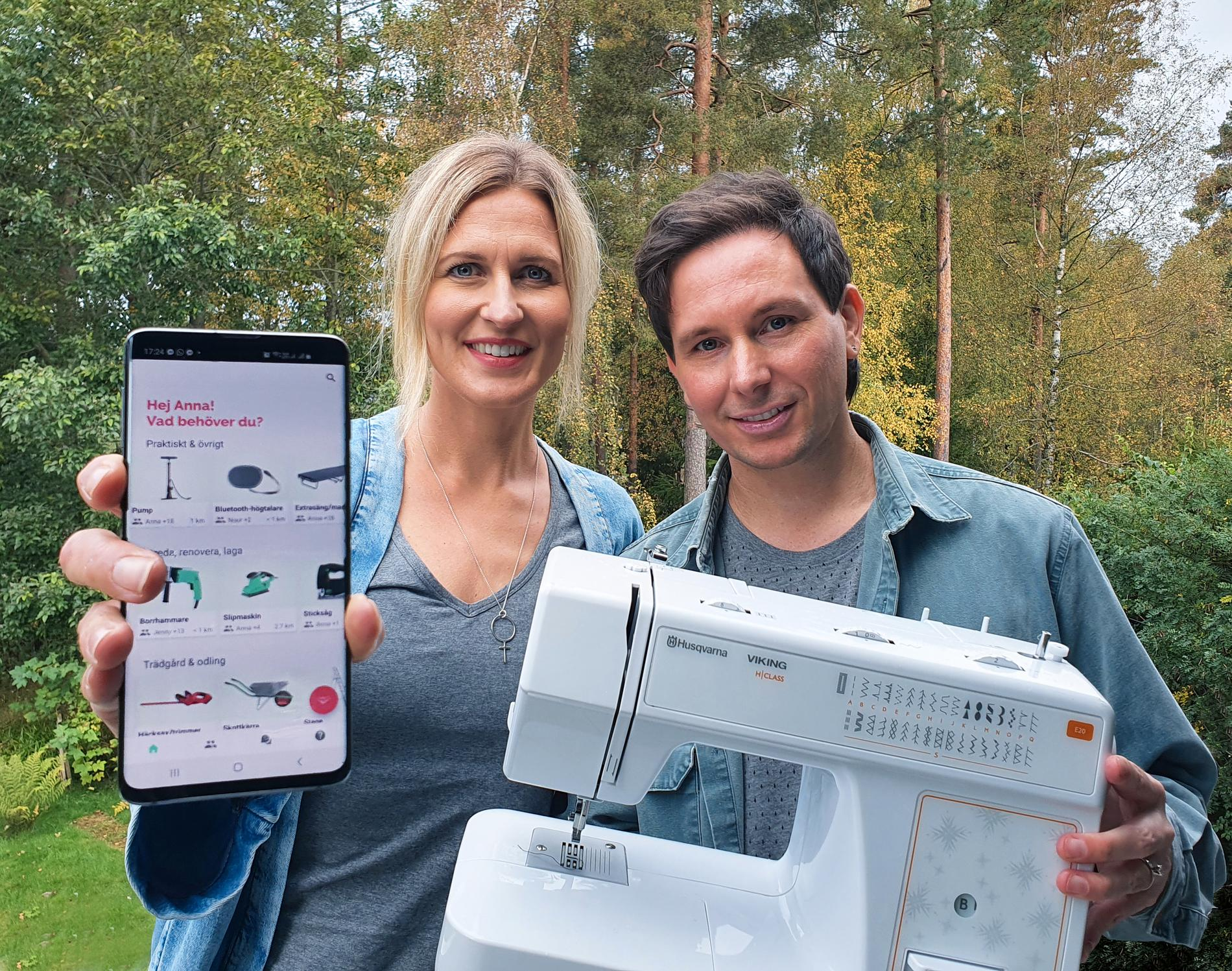 Paret Anna Sundell och Henric Barkman har tagit fram appen Swinga.